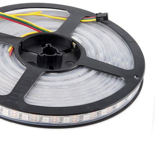 WS2811 DC5/12V Programmable LED Strip Lights, Addressable Digital Full Color Chasing Flexible LED Strips, Outdoor Waterproof, 300LEDs 16.4ft Per Reel By Sale