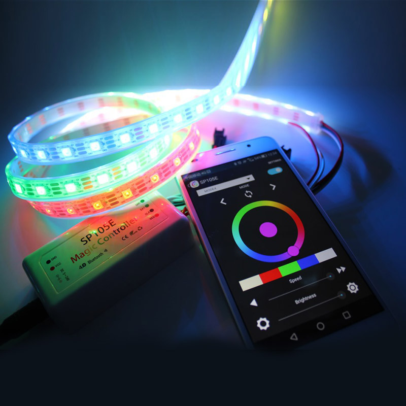 Ws2811 dc512v programmable led strip lights addressable digital ws2811 dc512v programmable led strip lights addressable digital full color chasing flexible led strips outdoor waterproof 60ledsm aloadofball Image collections