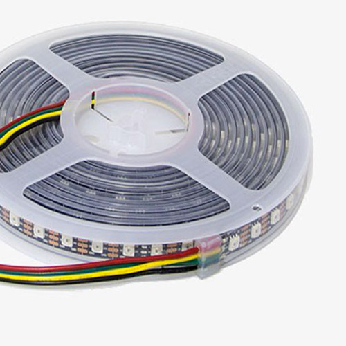 WS2812B DC5V Series Flexible LED Strip Lights, Programmable Pixel Full Color Chasing, Outdoor Waterproof IP67, 300LEDs 16.4ft Per Reel By Sale