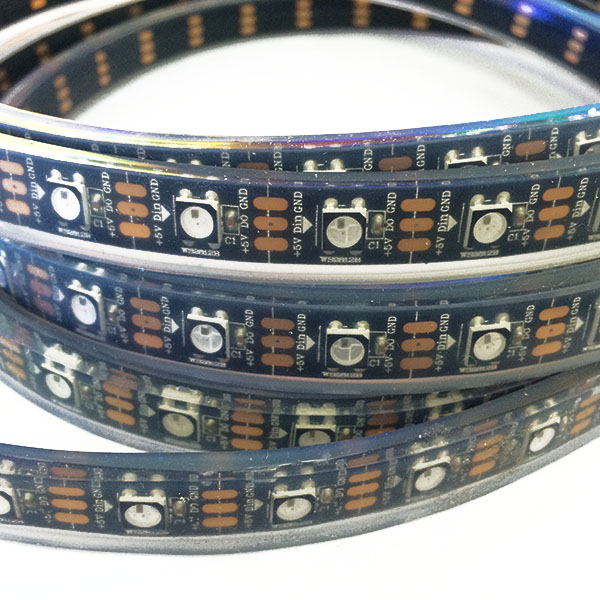 WS2811 DC5/12V Series Flexible LED Strip Lights, addressable Programmable Full Color Chasing, Outdoor Waterproof IP68, 300LEDs 16.4ft Per Reel By Sale