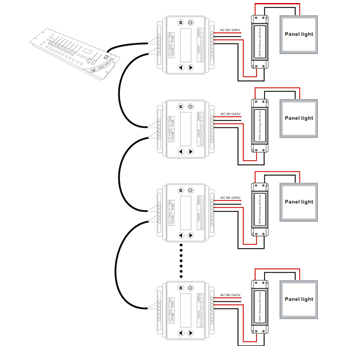 Led Light Strip Wiring Diagram moreover Rgb Light Controller as well Dmx 512 Wiring Diagram additionally Dmx Led Strip Light Wiring Diagram besides Wiring Multiple Led Light Strips. on dmx led strip light wiring diagram