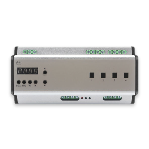AC100-240V 5MM rail 4 circuits 512 standard protocol signal software or panel control EXP Rail Switch Controller for home lighting systems ,led strip projects , led strip remote control
