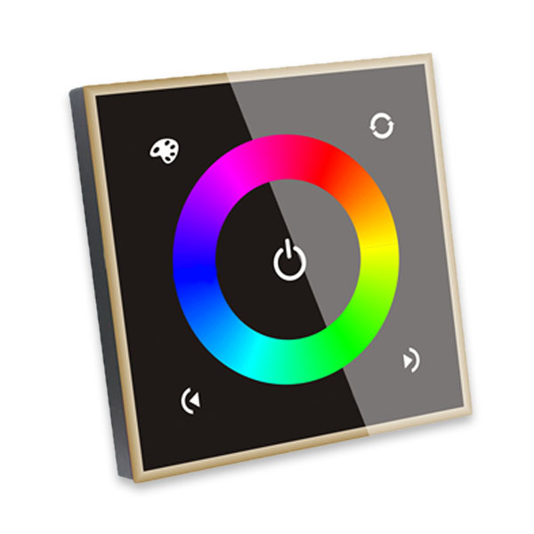 DC12-24V 4 channel glass panel design Touch panel controller can control RGB and RGBW led lamp for lighting change
