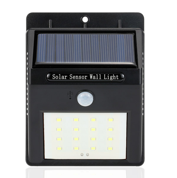DS44 High Quality Solar Energy 16 LED IR Human Body Sensor Light Energy-Saving Garden Yard Lamp Waterproof Wall Night Light
