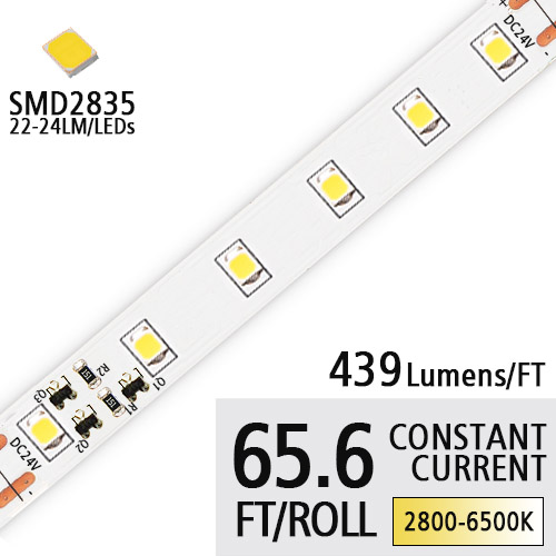DC24V 2835 SMD 90 High CRI Led Light Strips- Constant Current Led Work Light - 65.6Ft/Roll Logo Lighting