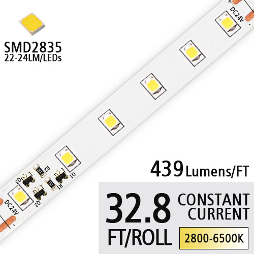 DC24V 2835SMD 90 High CRI LED Tape Lights Constant Current Led Strip Lights Kitchen 32.8Ft one Roll Landscape Layout Lighting