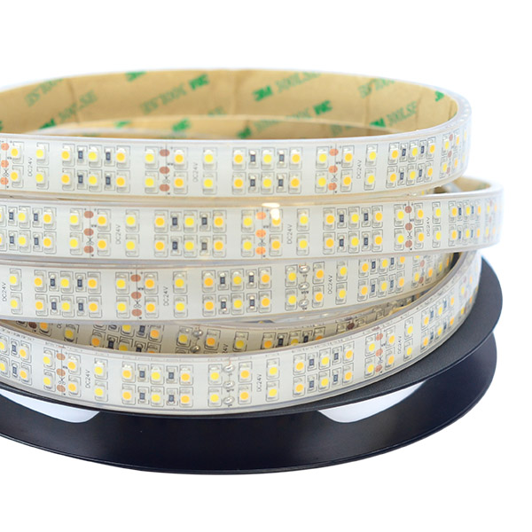 Double Row Color Temperature Series DC24V 3528SMD 1200LEDs Flexible LED Strip Lights Pure White+Warm White 16.4ft Per Reel By Sale