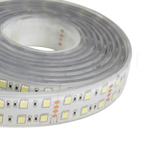Double Row Super Bright Series DC24V 5050SMD 600LEDs Flexible LED Strip Lights Waterproof IP67 16.4ft Per Reel By Sale