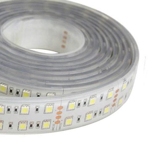Double row super bright series dc24v 5050smd 600leds flexible led double row super bright series dc24v 5050smd 600leds flexible led strip lights waterproof ip67 164ft aloadofball Images