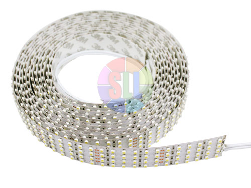 Quad Row Super Bright Series DC24V 3528SMD 2400LEDs Flexible LED Strip Lights, Nanometer Waterproof, 16.4ft Per Reel By Sale