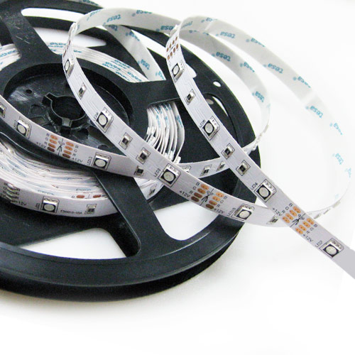Single Row RGB Series DC12/24V 5050SMD 150LEDs Flexible LED Strip Lights Non Waterproof 16.4ft Per Reel By Sale
