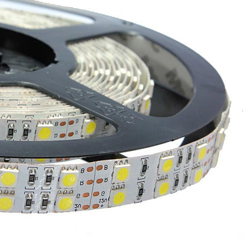 Dual Row RGB Super Bright Series DC24V 5050SMD 600LEDs Flexible LED Strip Lights 16.4ft Per Reel By Sale