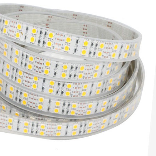 Dual Row RGB Super Bright Series DC24V 5050SMD 600LEDs Flexible LED Strip Lights Waterproof IP67 16.4ft Per Reel By Sale