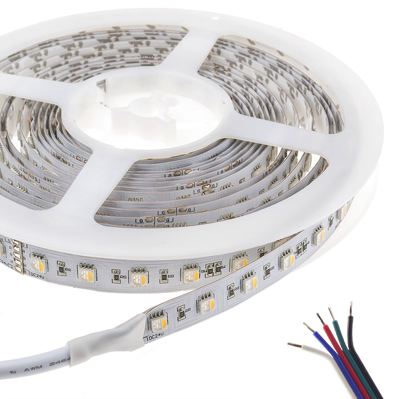 RGBW Super Bright 4 Colors in 1 Series DC24V 5050SMD 360LEDs Flexible LED Strip Lights Waterproof Optional 16.4ft Per Reel By Sale
