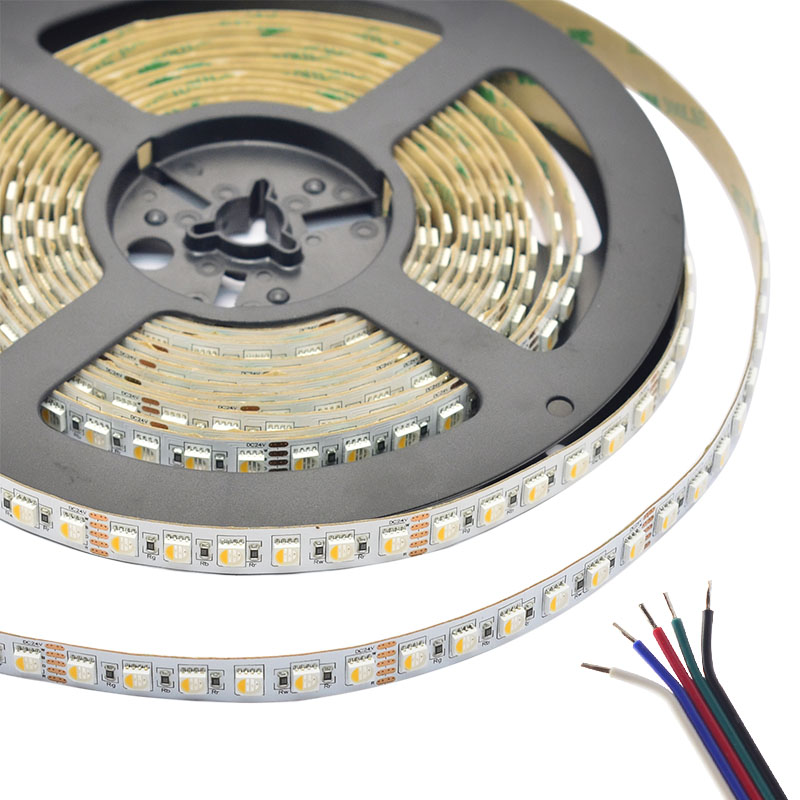 RGBW Super Bright 4 Colors in 1 Series DC24V 5050SMD 480LEDs Flexible LED Strip Lights Waterproof Optional 16.4ft Per Reel By Sale
