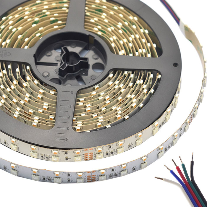 Dual Row RGBW Super Bright Series DC24V 3528&5050SMD 600LEDs Flexible LED Strip Lights Waterproof Optional 16.4ft Per Reel By Sale