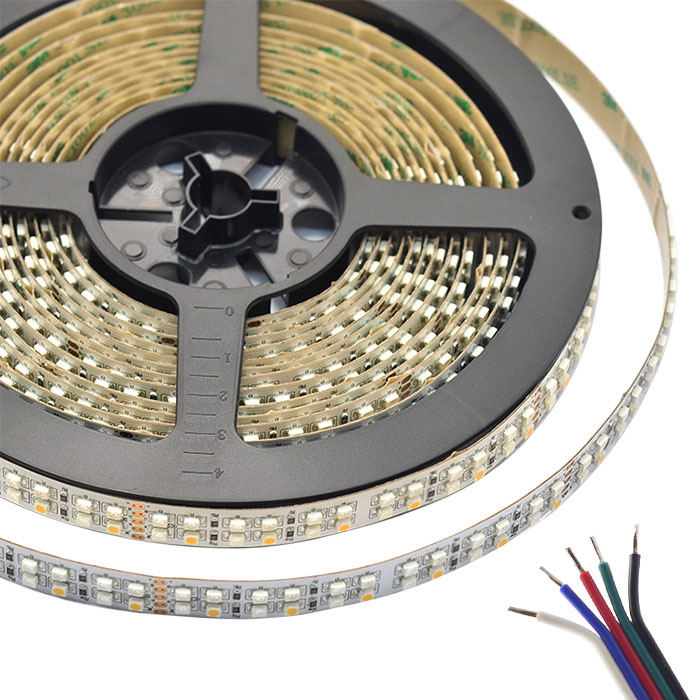Dual Row RGBW Super Bright Series DC24V 3528SMD 1200LEDs Flexible LED Strip Lights Waterproof Optional 16.4ft Per Reel By Sale