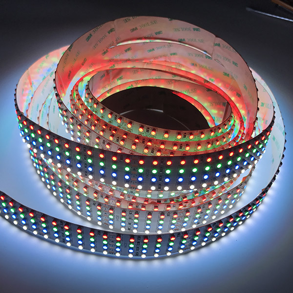 Quad Row RGBW Brightest DC24V with Single Color 3528 LEDs Flexible LED Tape Lights Nano Waterproof 146LEDs/Foot 16.4ft/Reel