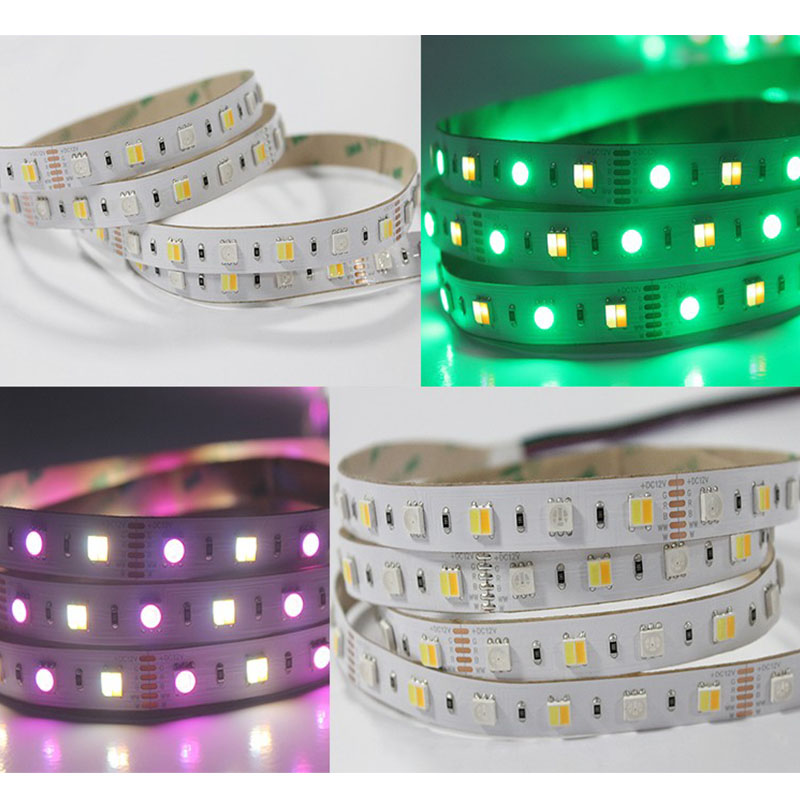 RGB+Warm White+Daylight White Super Bright  5 Colors DC24V 5050SMD 22LEDs Per Feet Flexible LED Tape Lights 16.4ft Per Roll By Sale