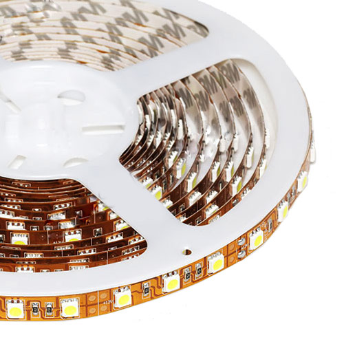 Single Row Series DC24V 5050SMD 480LEDs Flexible LED Strip Lights Super Home Lighting 16.4ft Per Reel By Sale
