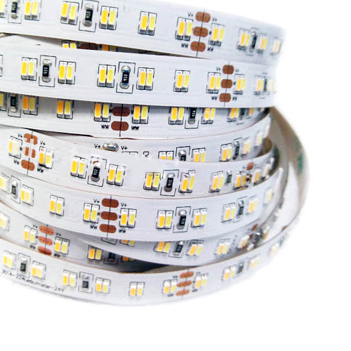 Dual white color dimmable led strips color temperature pure whitewarm white series dc24v 3014smd 1120leds flexible led strip lights 164 aloadofball Images