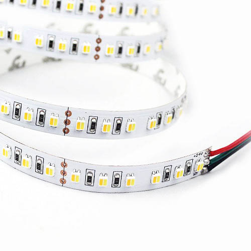 Color Temperature Pure White+Warm White Series DC12V 3528SMD 300LEDs Flexible LED Strip Lights Home Lighting 16.4ft Per Reel By Sale