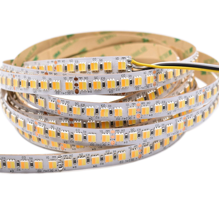 Tunable White LED Strip Light Reel - 5050 2in1 24VDC 36LEDs/ft - Color Temperature Changing LED Tape Light - 804 Lumens/ft.