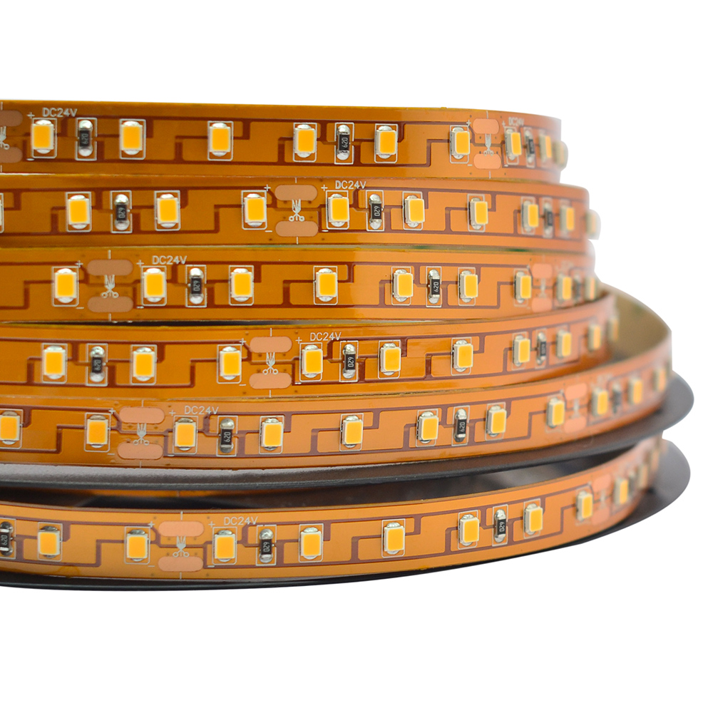 Single Row DC24V High efficiency 2835SMD 420LEDs Flexible LED Strip Lights Indoor Lighting, 16.4ft Per Reel 84LEDs/m