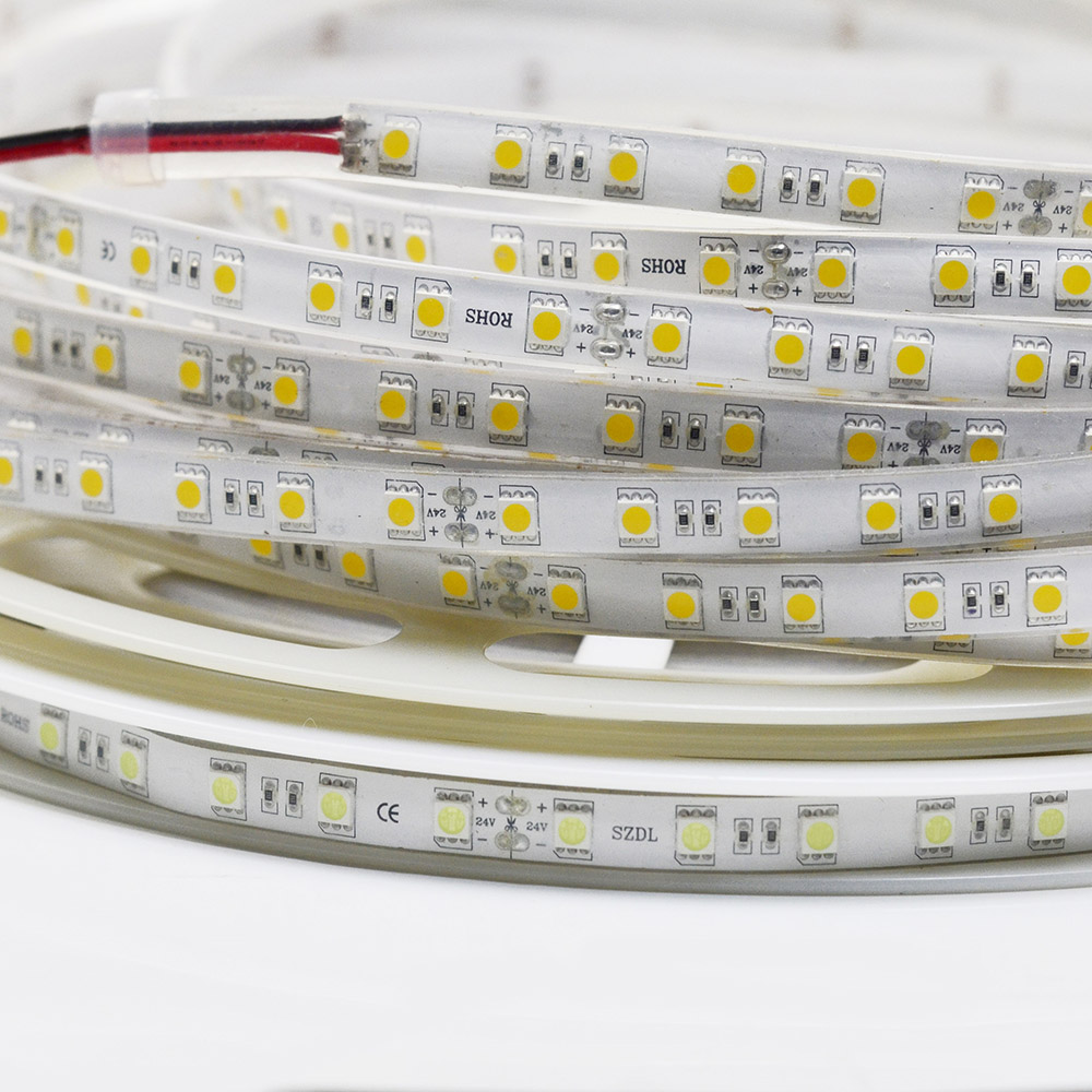 24 volt, LED Light Strip Reel - 65.6ft (20m) Single Row Flexible LED Tape Lights with 1200 High Brightest 5050SMD LEDs For Home Decoration Lighting
