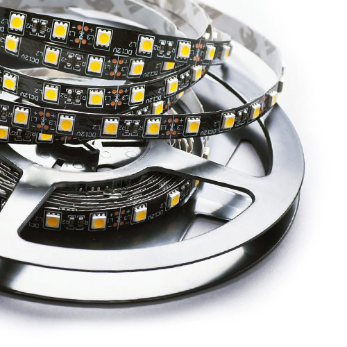 Single Row Series DC12/24V 5050SMD 300LEDs Flexible LED Strip Lights Super Home Lighting 16.4ft Per Reel By Sale
