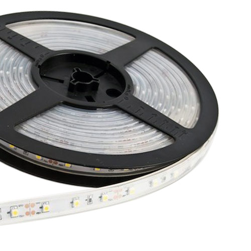 Single Row Series DC12V 3528SMD 300LEDs Flexible LED Strip Lights, Outdoor Lighting, Waterproof IP67, 16.4ft Per Reel By Sale