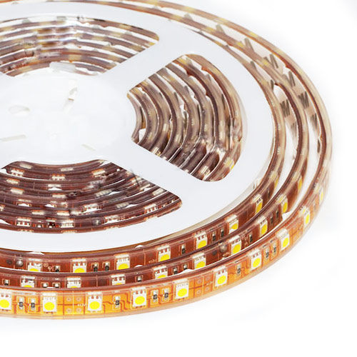Single Row Series DC24V 5050SMD 480LEDs Flexible LED Strip Lights Super Waterproof Lighting 16.4ft Per Reel By Sale