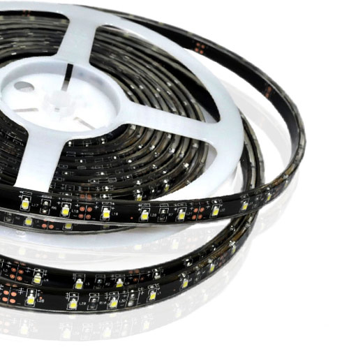 Single Row Series DC12V 3528SMD 300LEDs Flexible LED Strip Lights, Highest Level of Waterproof IP68, 16.4ft Per Reel By Sale