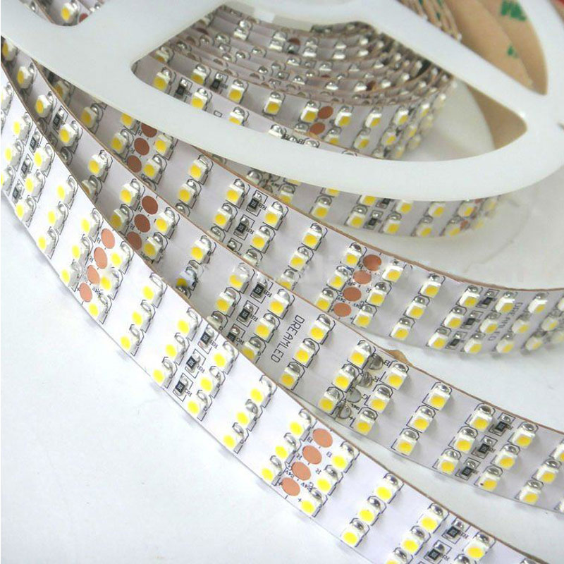 Triple row super bright series dc24v 3528smd 1800leds flexible led strip lights industrial lighting 16 4ft per reel by sale