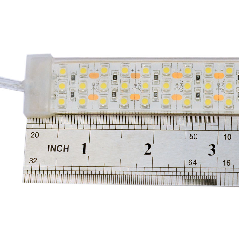 Triple Row Super Bright Series DC24V 3528SMD 1800LEDs Flexible LED Strip Lights, Waterproof IP68, 16.4ft Per Reel By Sale