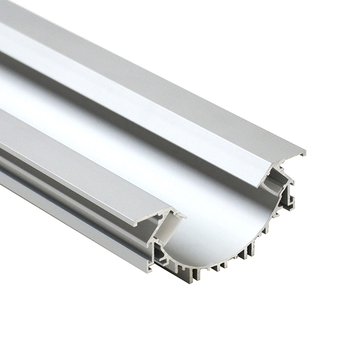 2m 7023 Recessed aluminium profile with Reflector for 2mt LED Strips Strip