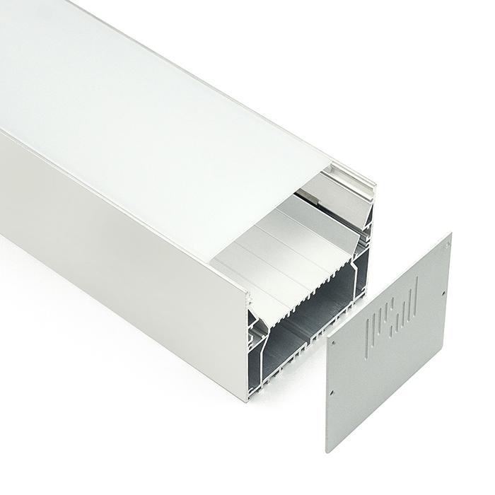 HL-A030 Aluminum Profile - Inner Width 66.1mm(2.60inch) - LED Strip Anodizing Extrusion Channel, For LED Strip Lights