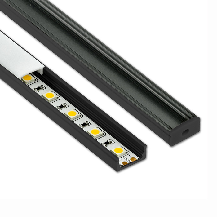 HL-BAPL002-Height 9mm Recessed Extruded Aluminum Channel Profile Good heatsink For Width 11mm LED Flexible Strip Lights