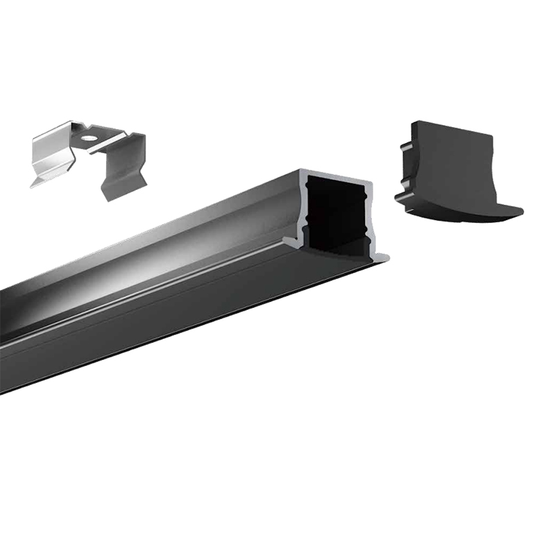 HL-BAPL003-Height 15mm Recessed Extruded Aluminum Channel Profile with Flange Good heatsink For Width 12mm LED Flexible Strip Lights