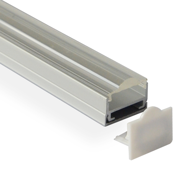 HL-BAPL012 Height 15.5mm Raised Recessed Extruded Aluminum Channel Profile Good heatsink For Width 17mm Ceiling LED Flexible Strip Lights