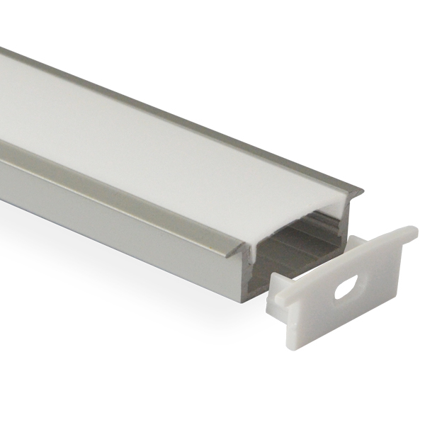 HL-BAPL013 Height 11mm Deep Recessed Extruded Aluminum Channel Profile Good heatsink For Width 18.7mm With Flange Ceiling LED Flexible Strip Lights