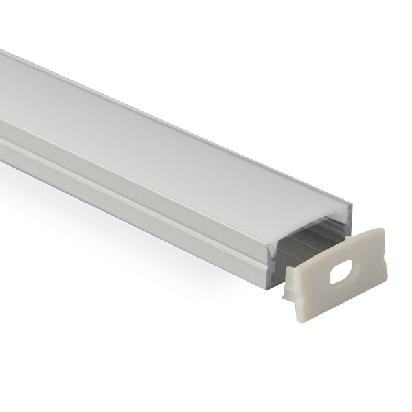 HL-BAPL014 Height 10mm Deep Recessed Extruded Aluminum Channel Profile Good heatsink For Width 20mm Without Flange Ceiling LED Flexible Strip Lights