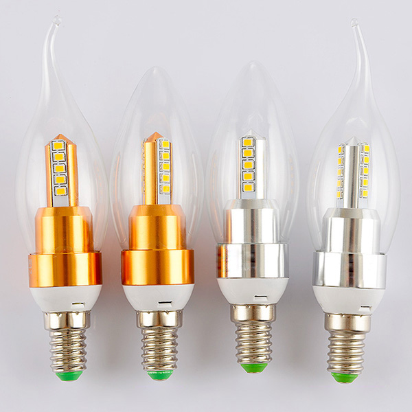 energy saving candle shaped led bulb e27 metal case led light bulbs hq lbsc 4. Black Bedroom Furniture Sets. Home Design Ideas