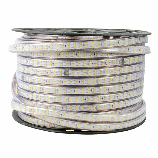 SMD3014 Dual Row High Voltage 110&220V Single Color LED Strips, Waterproof IP67, 240LEDs Per Meter, 50&100 Meter (164&328ft) Per Reel By Sale