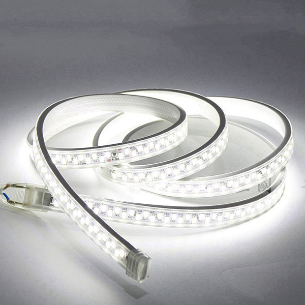 SMD5730 Dual Row High Voltage 110&220V Single Color LED Strips, Waterproof IP67, 180LEDs Per Meter, 50&100 Meter (164&328ft) Per Reel By Sale