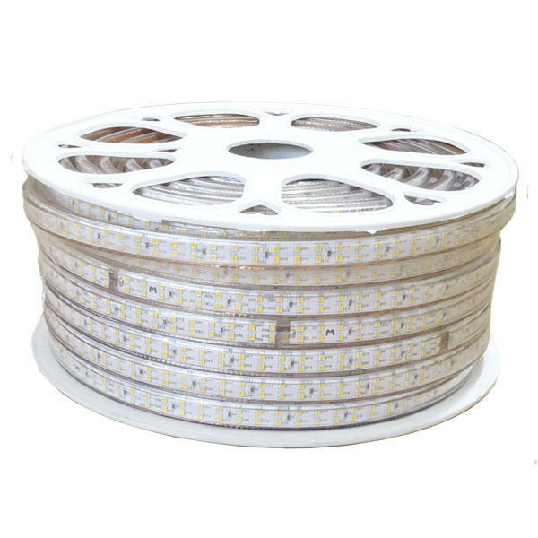 SMD3528 Dual Row High Voltage 110&220V Single Color LED Strips, Waterproof IP67, 180LEDs Per Meter, 50&100 Meter (164&328ft) Per Reel By Sale