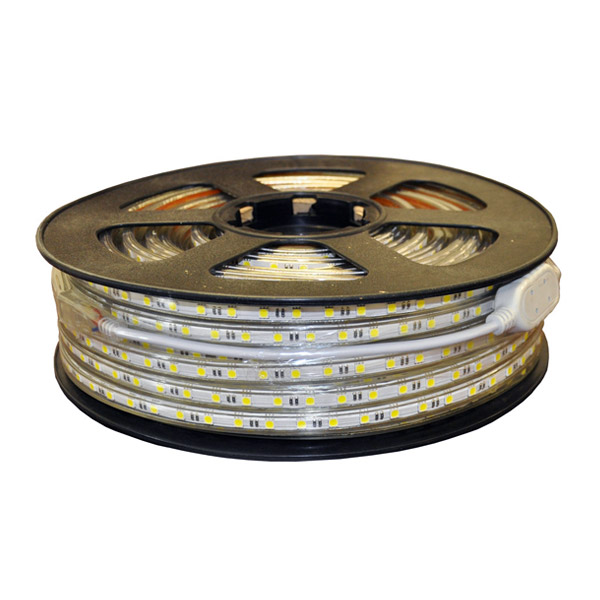 SMD3528 High Voltage 110&220V Single Color LED Strips, Waterproof IP67, 60LEDs Per Meter, 50&100 Meter (164&328ft) Per Reel By Sale