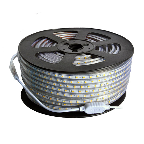 SMD5050 High Voltage 110&220V Single Color LED Strips, Waterproof IP67, 60LEDs Per Meter, 50&100 Meter (164&328ft) Per Reel By Sale