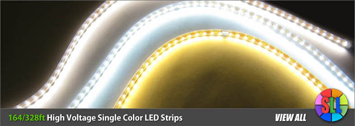 High Voltage Single Color LED Strips