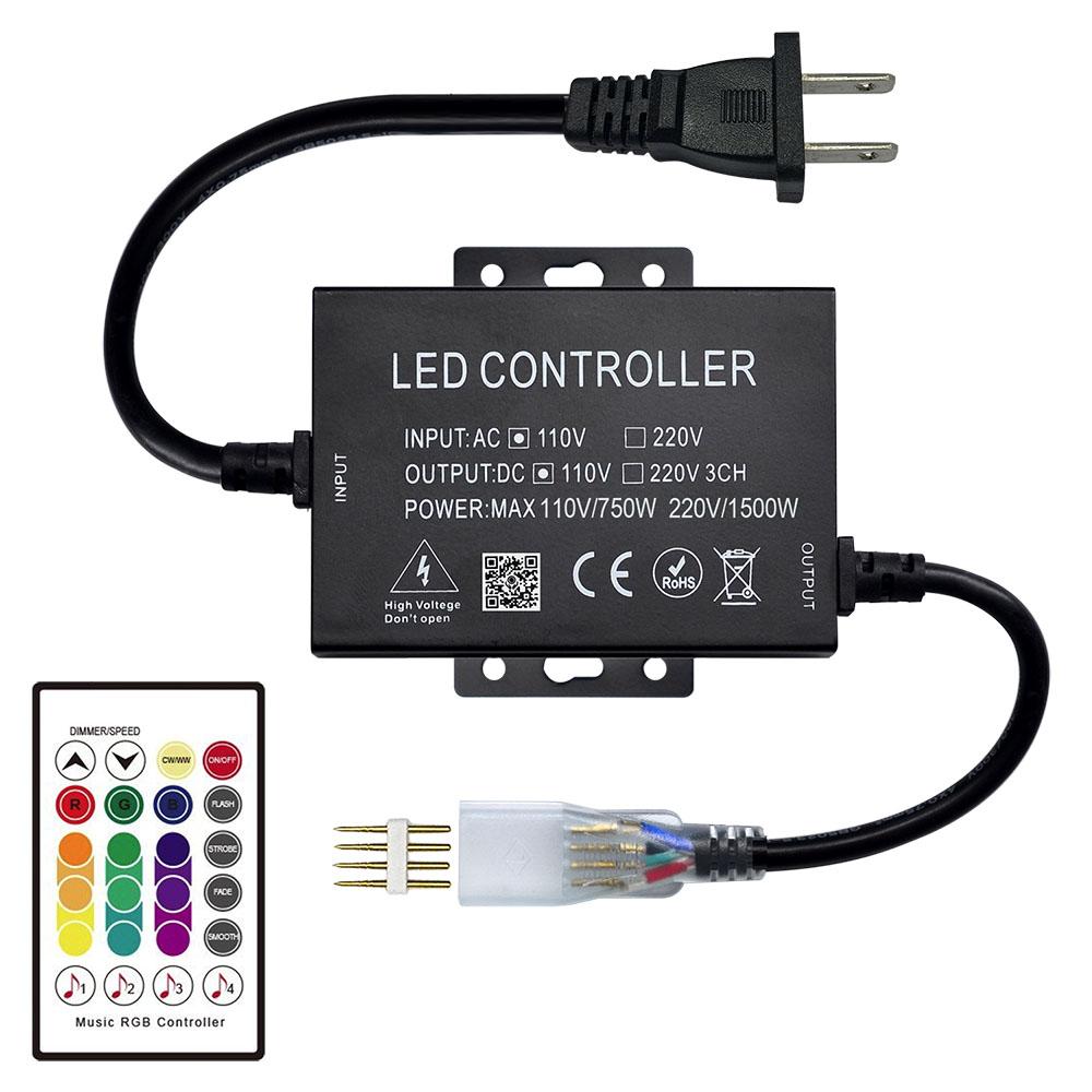 Ac110 220v 1500w Rf 24keys Music Controller For Stage Lighting Bar